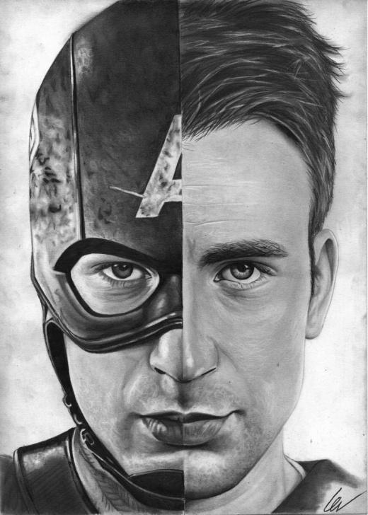 Excellent Captain America Pencil Drawing Techniques Chris Evans / Captain America Images