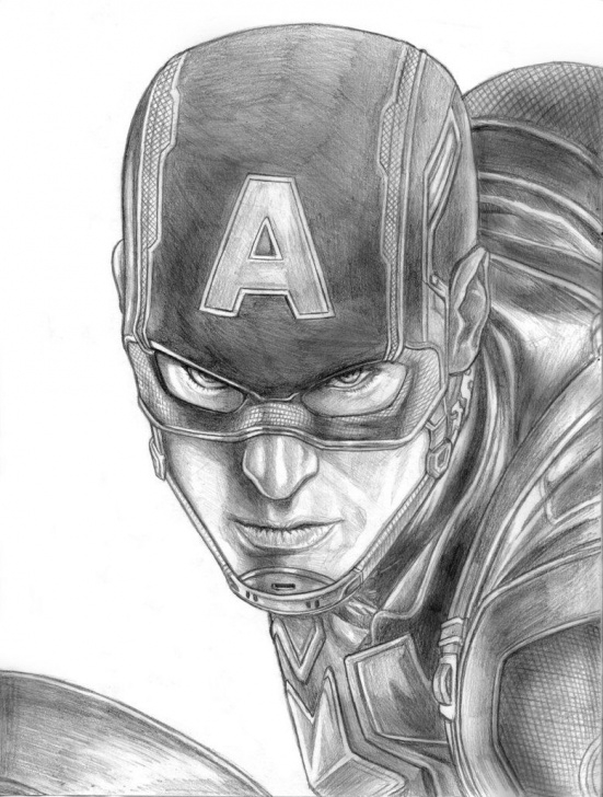Excellent Captain America Pencil Sketch Tutorials 9+ Excellent Captain America Shield Pencil Sketch Gallery - Sketch Images