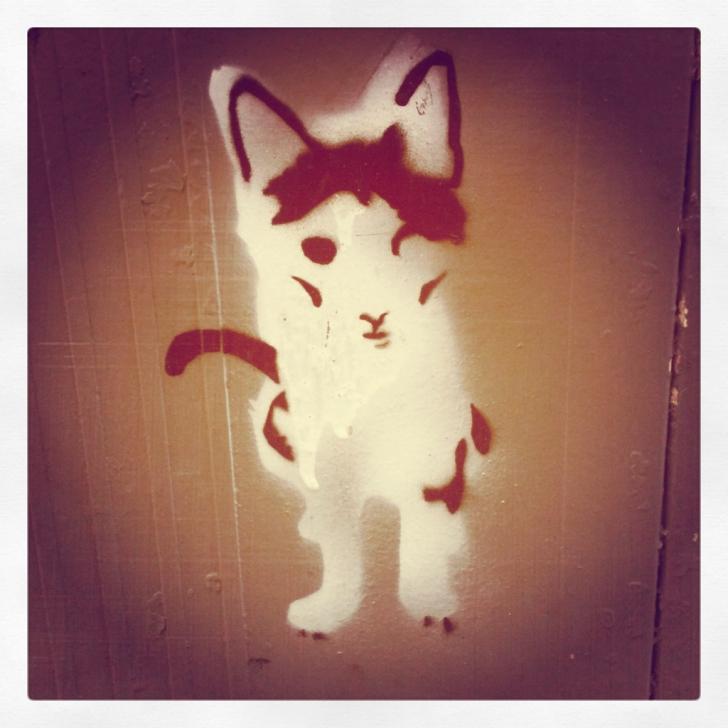 Excellent Cat Graffiti Stencil Step by Step Cat Stencil From Barcelona | Street Art | Street Art, Art, Cats Pic