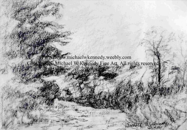 Excellent Charcoal Landscape Sketches Techniques Charcoal Landscape Sketches | Drawing Work Pics