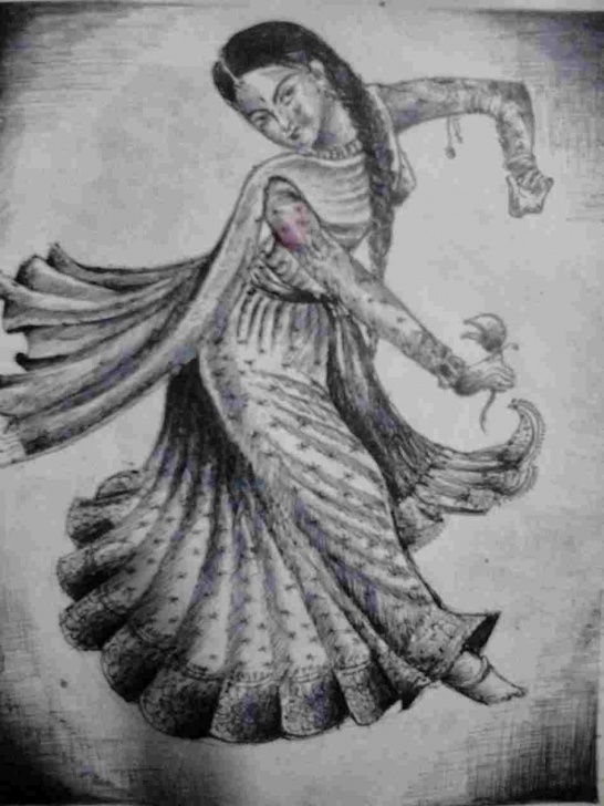 Excellent Classical Dance Pencil Drawing Simple Pencil Kathak Dance Pencil Drawing Sketches Of Dancers My Classical Photos