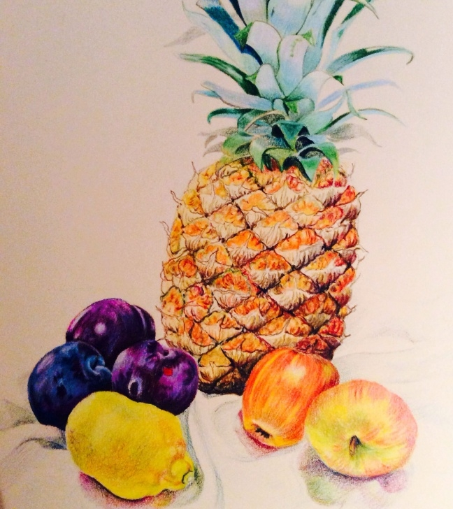 Excellent Colored Pencil Still Life Tutorials Fruit Still Life - Pencil Crayon. Glyn Overton | Pencil Colour Still Picture