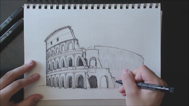 Excellent Colosseum Pencil Sketch Step by Step Drawing The 'colosseum' In Rome #timelapse Image