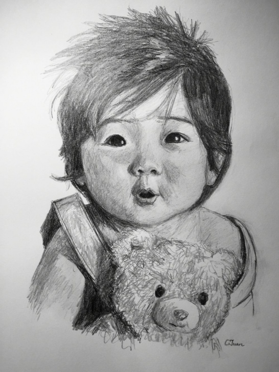 Excellent Cute Baby Pencil Sketch Techniques Cute Baby #sketching | Art | Baby Sketch, Cute Sketches, Art Sketches Image
