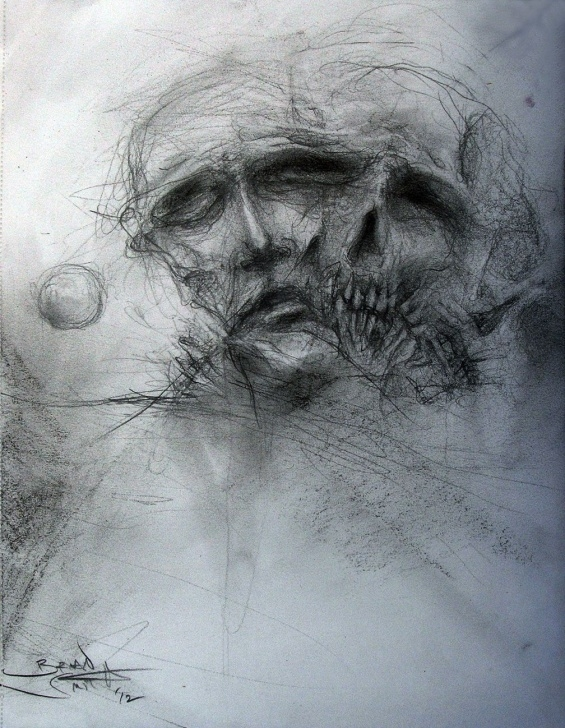 Excellent Dark Pencil Sketches Ideas Dark Art Drawings | Dark Art Pencil Drawings Pencil/charcoal On Photo