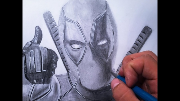 Excellent Deadpool Drawing Pencil Courses Drawing Of Deadpool In Pencil| Deadpool 2 Marvel Photo