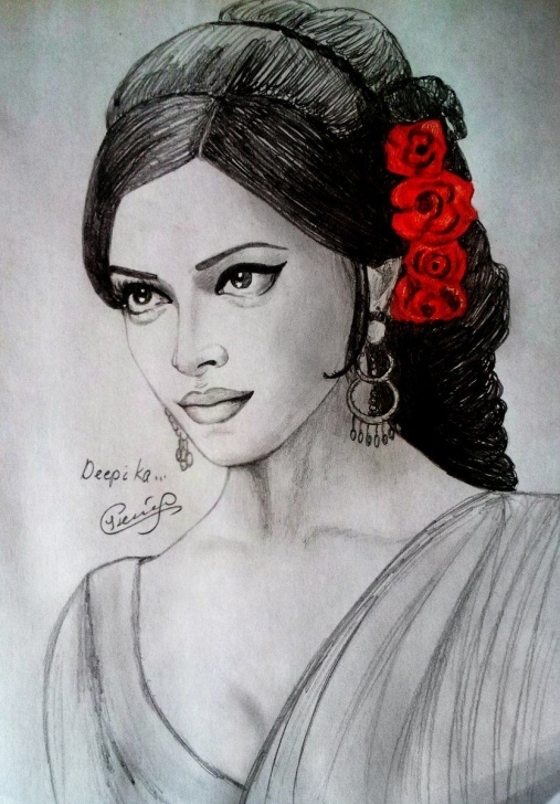 Excellent Deepika Padukone Pencil Sketch Easy 9Yearsofomshantiom An Art By Fan | Deepika In 2019 | Pencil Drawings Pics
