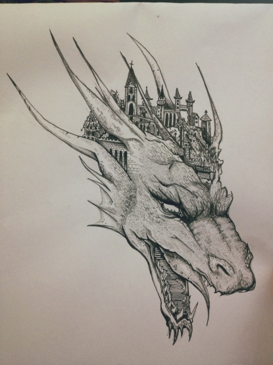 Excellent Dragon Pencil Sketch Ideas Dragon Pencil Sketch At Paintingvalley | Explore Collection Of Picture