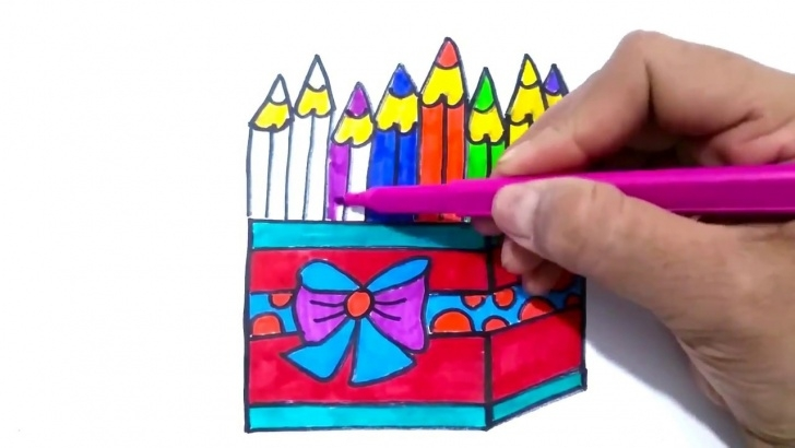 Excellent Drawing Of Pencil Box Step by Step How To Draw Pencil Box | Pencil Holder Or Pencil Box Drawing And Coloring  Page For Children Picture