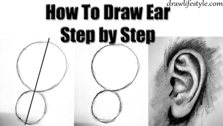 Excellent Ear Pencil Drawing Easy How To Draw Ears With Pencil Step By Step Drawing For Beginners Pics