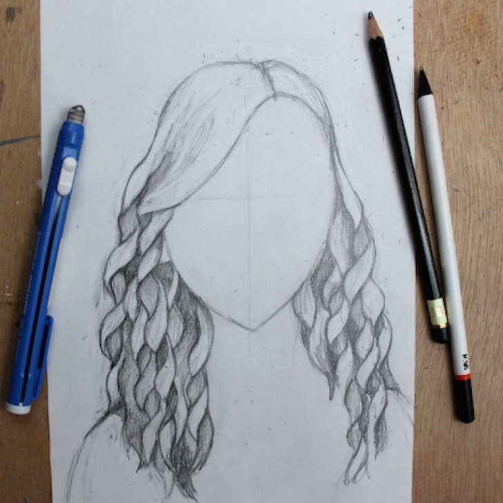 Excellent Easy Pencil Drawings Step By Step Lessons How To Draw Curly Hair: Beginner's Step-By-Step Tutorial Photo