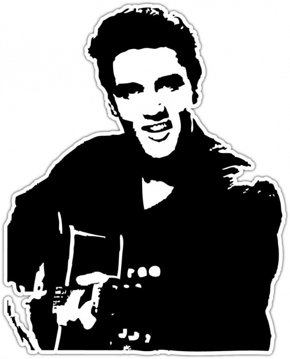 Excellent Elvis Stencil Art Techniques for Beginners Details About Elvis Presley Rock And Roll Music Car Bumper Window Pic