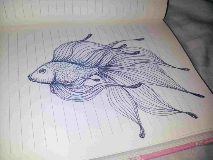 Excellent Fish Pencil Drawing Tutorials Pencil Drawings Of Fish | Drawing Work Images