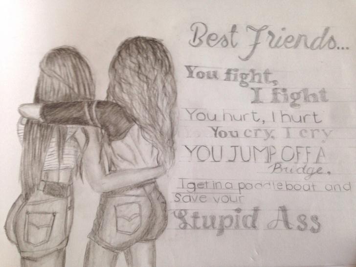 Excellent Friends Pencil Sketch Techniques Pencil Sketch Images Of Friendship And Pencil Sketchesfriends Photos