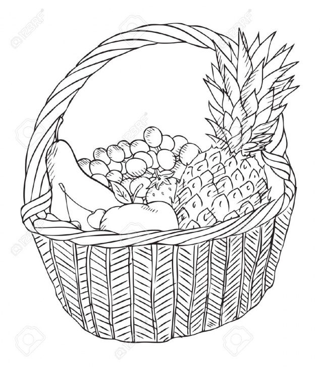 Excellent Fruit Basket Pencil Drawing for Beginners Fruit Bowl Sketch At Paintingvalley | Explore Collection Of Picture