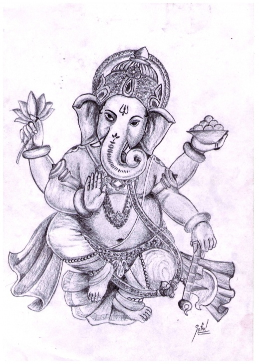 Excellent Ganpati Bappa Pencil Sketch Techniques for Beginners Free Ganpati Sketch, Download Free Clip Art, Free Clip Art On Pic