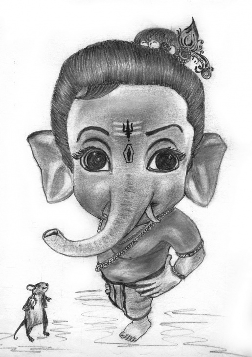Excellent Ganpati Pencil Sketch Simple Free God Ganesh Drawings, Download Free Clip Art, Free Clip Art On Photos
