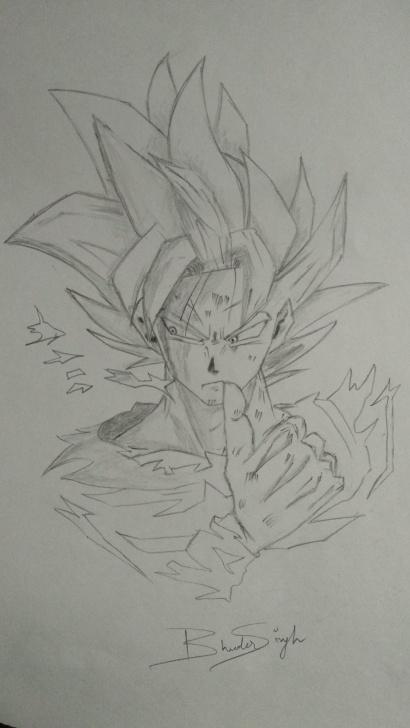 Excellent Goku Pencil Drawing Tutorial Goku Super Saiyan Dragon Ball Z Pencil Art Pencil Sketches How To Pic