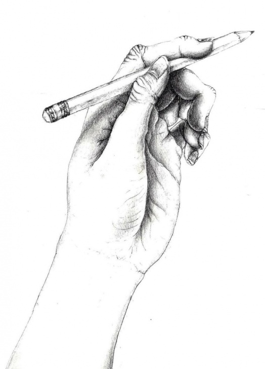 Excellent Hand With Pencil Drawing for Beginners Hand Holding A Pencil Sketch At Paintingvalley | Explore Pictures