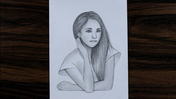 Excellent Hb Pencil Art Easy Easy Girl Drawing For Beginners Step By Step - Hb Pencil Drawing Photos