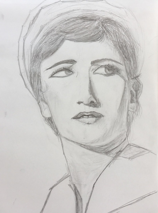 Excellent Hb Pencil Art for Beginners Tried Drawing Cindy Sherman, Only Used An Hb Pencil For This Picture