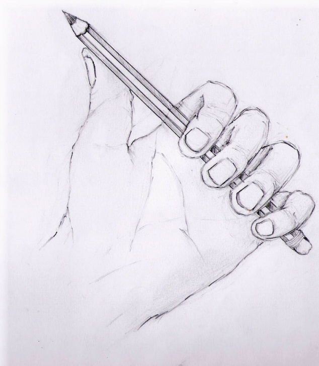 Excellent Holding A Pencil Drawing Ideas Hand Holding Pencil Drawing At Paintingvalley | Explore Pic