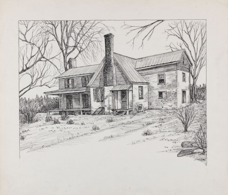 Excellent House Pencil Sketch Free Pencil Drawings Of Old Houses | House Drawing | I Want To Draw This Image