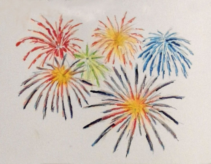 "Excellent How To Draw Firworks With Color Pencils Courses Daily Drawing No. 191. ""fireworks."" Colored Pencils. Re: Just Draw Pic"