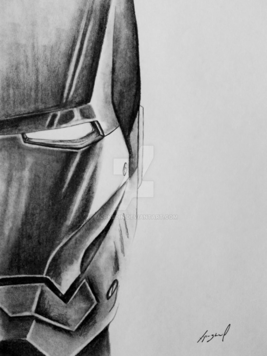 Excellent Iron Man Pencil Sketch Tutorials Iron Man Pencil Drawing By Morkedin On Deviantart Pic