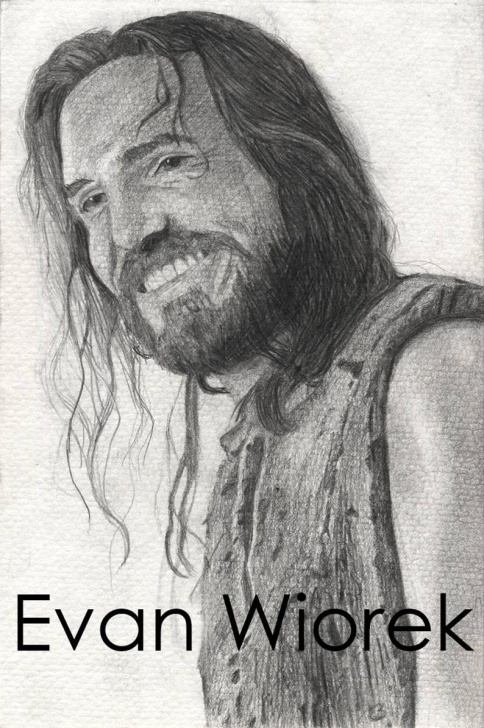 Excellent Jesus Laughing Pencil Drawings Tutorials Jesus Laughing, Pencil Drawn Portrait Art Print Pic