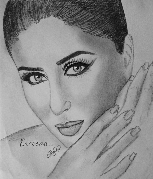 "Excellent Kareena Kapoor Sketch Techniques for Beginners Art By Seda On Twitter: ""sketches By Me Happy Birthday Kareena Pictures"