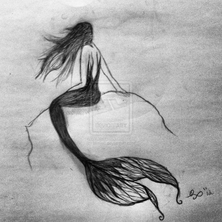 Excellent Mermaid Pencil Drawings Courses Pictures Of Mermaids Drawing At Paintingvalley | Explore Pic