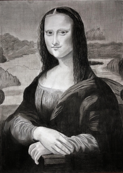 Excellent Mona Lisa Pencil Drawing Tutorials Mona Lisa Drawing Using Graphite And Charcoal Pencils. : Drawing Images
