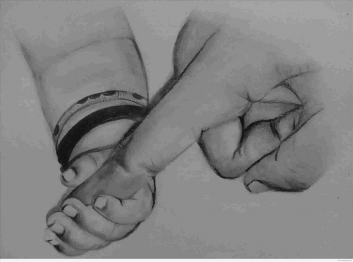 Excellent Mother Pencil Sketch for Beginners Mother And Baby Pencil Art Photos