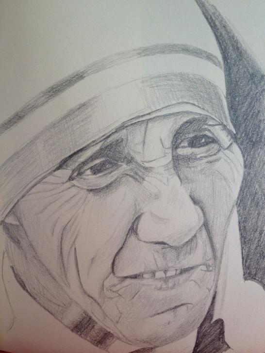 Excellent Mother Teresa Pencil Drawing Tutorial Pencil Sketch Mother Teresa | Art Inspiration | Sketches, Art, Pencil Pics