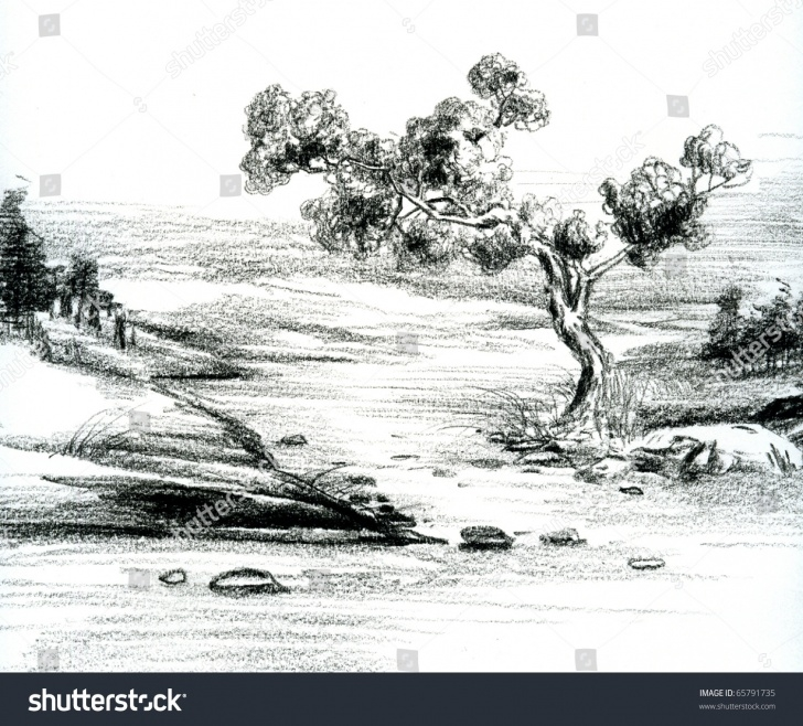 Excellent Nature Scenery Sketch Step by Step Pencil Sketches Of Nature Scenery And Hand Sketch Natural Scenery Picture