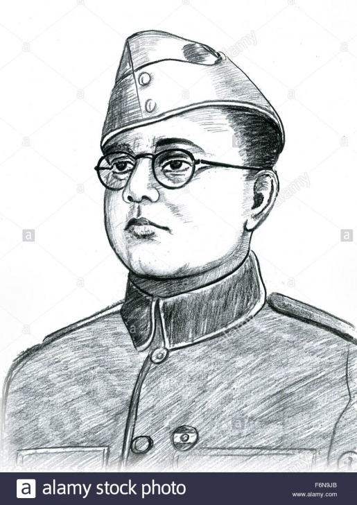 Excellent Netaji Subhas Chandra Bose Pencil Sketch for Beginners Netaji Subhash Chandra Bose Sketch Stock Photos & Netaji Subhash Photos