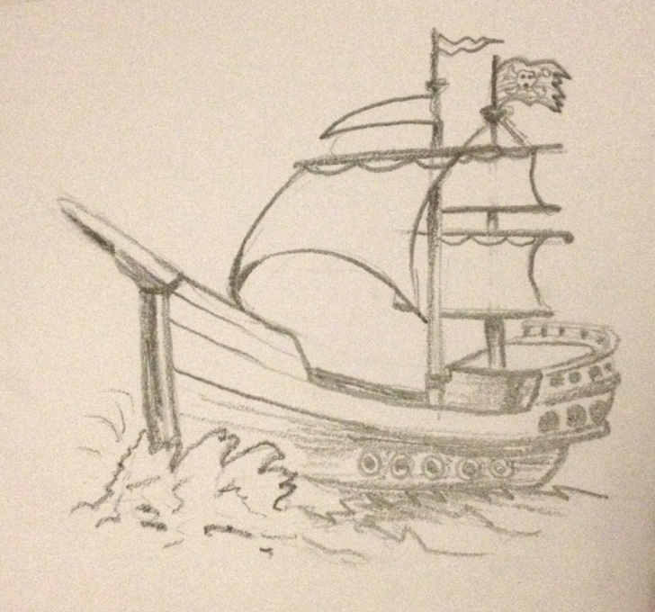 Excellent Pencil Drawing Ship Free Ship Sketch In Pencil Images And Ship Sketch In Pencil Images Pirate Pictures