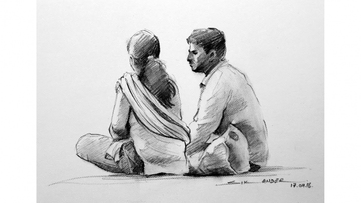 Excellent Pencil Figure Drawing Tutorial Figure Drawing With Pencil By Sikander Singh Chandigarh India Photos