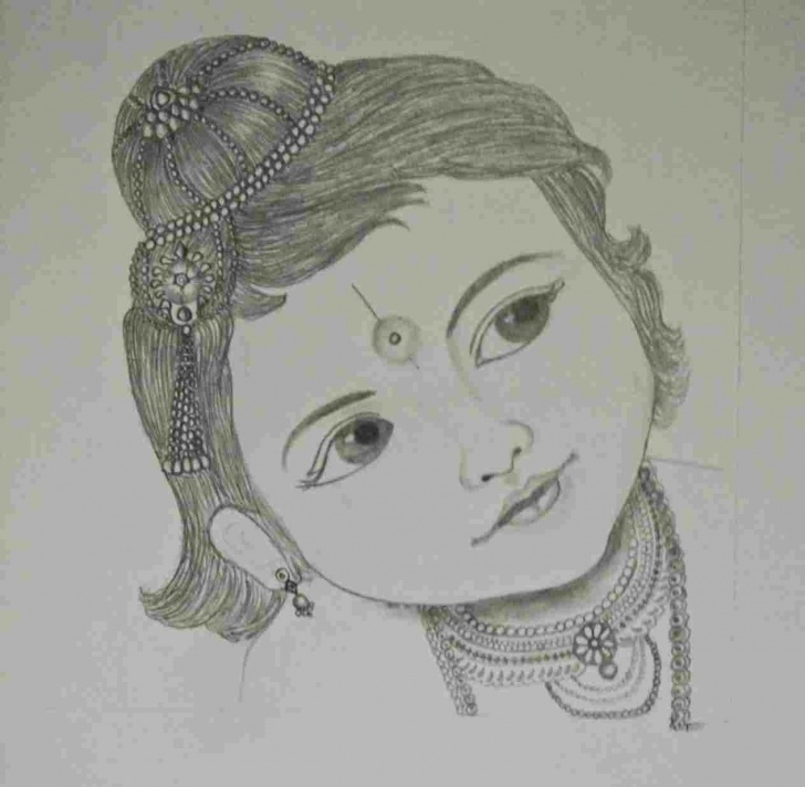Excellent Pencil Shading Drawing Free Krishna Pencil Shading Picture