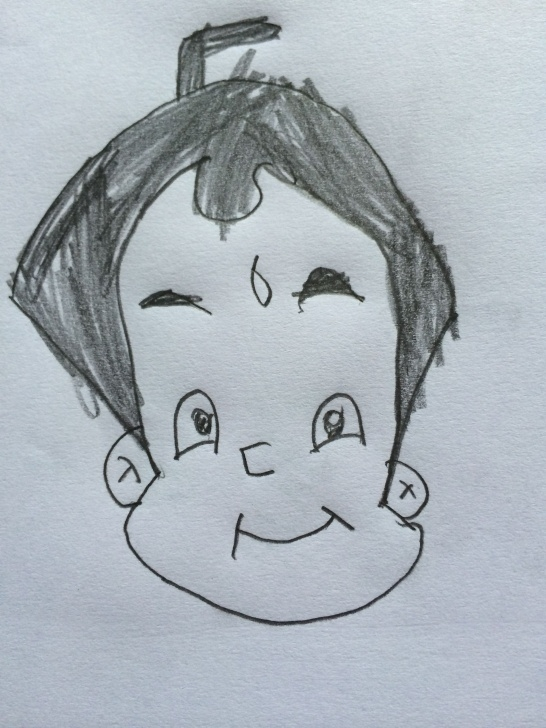 Excellent Pencil Shading Drawings For Kids Step by Step Chota Bheem - Pencil Shading | Dhanya's Drawings | Pencil Drawings Pic
