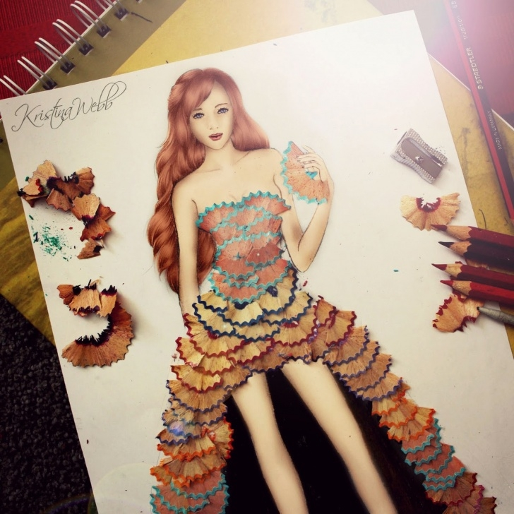 Excellent Pencil Shaving Drawing Tutorials Extraordinary Pencil Shaving Art Designs - Stylish Eve Pic