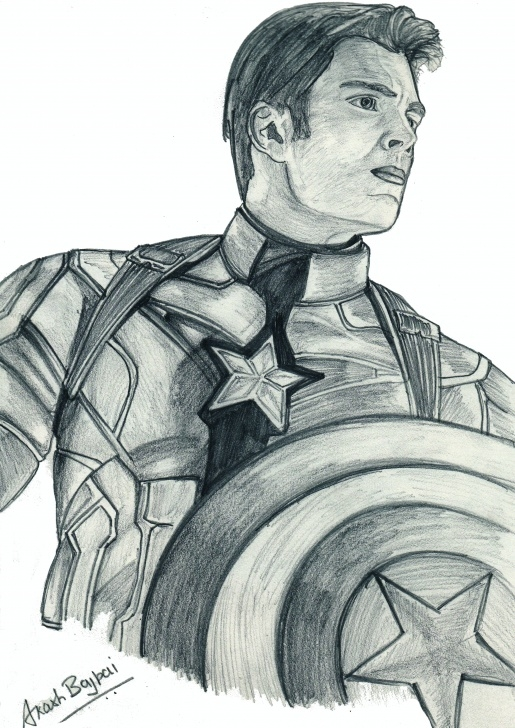 Excellent Pencil Sketch Of Captain America Tutorial Fan Art Captain America !! Pencil Sketch By Akash Bajpai – Arena Image