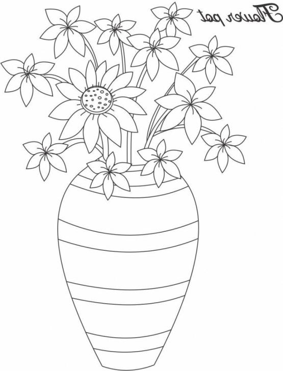 Excellent Pencil Sketch Of Flower Pot Easy Flower Pot Drawing At Paintingvalley | Explore Collection Of Pics