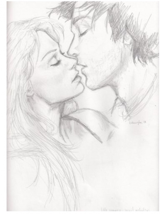 Excellent Pencil Sketch Of Kissing Couple Ideas Pin By Ana Pao ? On Art I Love In 2019 | Drawings, Couple Drawings Photo