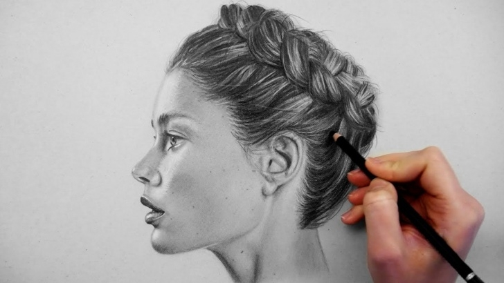 Excellent Realistic Pencil Shading Lessons Timelapse | Drawing, Shading And Blending A Realistic Profile Portrait On  Grey Paper | Emmy Kalia Image