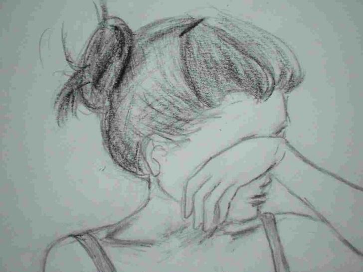 Excellent Sad Pencil Sketch Tutorials Sad Easy Pencil Drawings Photo