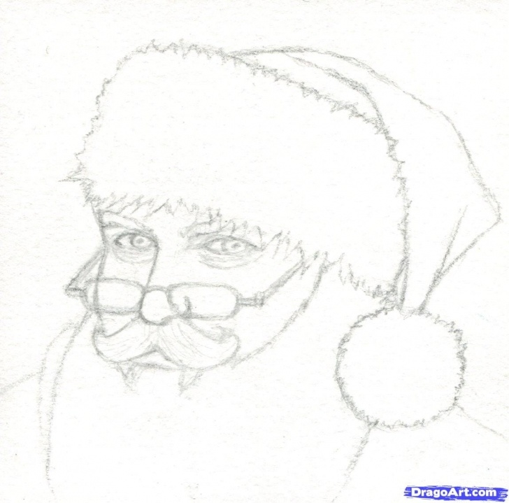 Excellent Santa Pencil Drawing Techniques How To Draw Santa, Realistic Santa, Step By Step, Christmas Stuff Picture