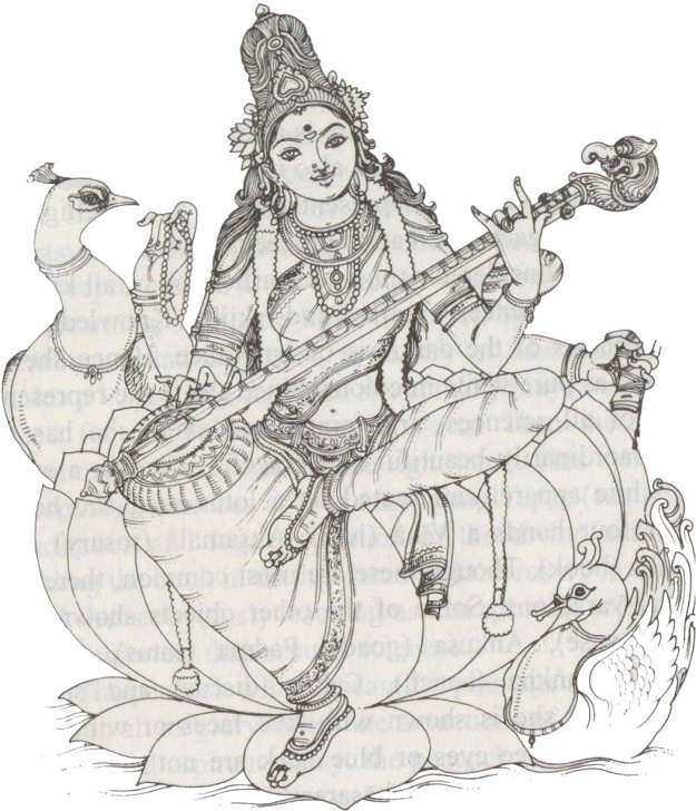 Excellent Saraswati Pencil Sketch Lessons Hindu God - Saraswati | Devi | Hindu Art, Tanjore Painting, India Art Pictures