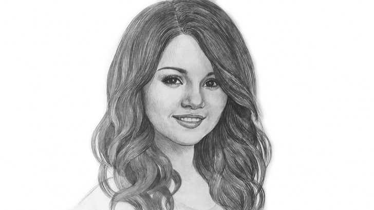 Excellent Selena Gomez Pencil Sketch for Beginners Selena Gomez Beautifull Portrait Drawing @selenagomez Image